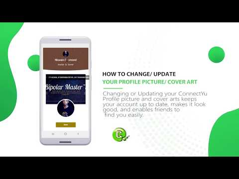 How to change or update your profile picture or cover art on ConnectYu