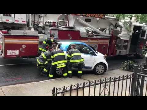 FDNY lift Car2Go Crown Heights