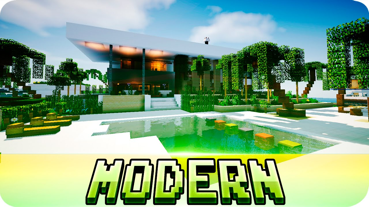 Minecraft beautiful modern house w download jerenvids for Minecraft modern house 9minecraft