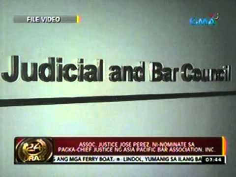 Assoc. Justice Jose Perez, ni-nominate sa pagka-chief justice ng Asia Pacific Bar Association, Inc.
