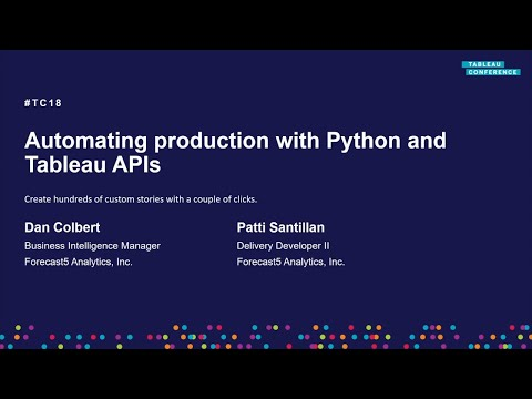 Forecast5 Analytics | Automating production with Python and Tableau