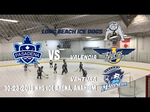 Pasadena Maple Leafs vs Ice Dogs, Flyers, Mariners. ADM Mites Track 2 (10-23-2016)