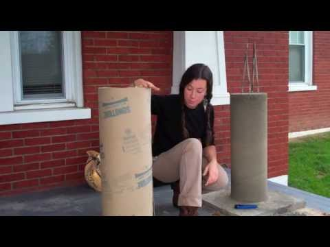 Cardboard Column Forms Youtube