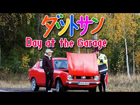 Day At The Garage Fixing My Friend's Datsun 🇫🇮 [eng. Subtitles]