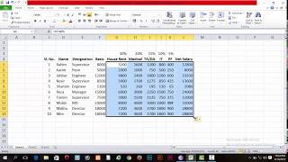 Create Simple Salary Sheet in Microsoft Excel Any Version