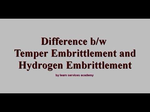 Temper Embrittlement vs Hydrogen Embrittlement