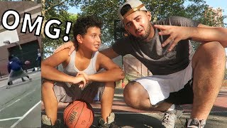 HIJABI GIRL DESTROYS BOYS IN BASKETBALL W/ A SKIRT! | Slimmofication vlogs