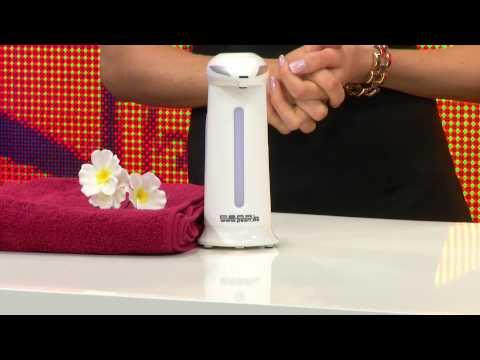 Stand Seifenspender mit Infrarot Sensor Spender Dosierer Flüssigseife 220 ml
