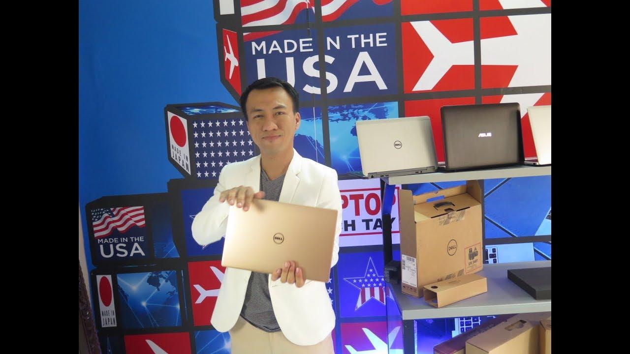 Khui hộp laptop DELL XPS 13-9360 i7 8550u gold cấu hình khủng mới nhất