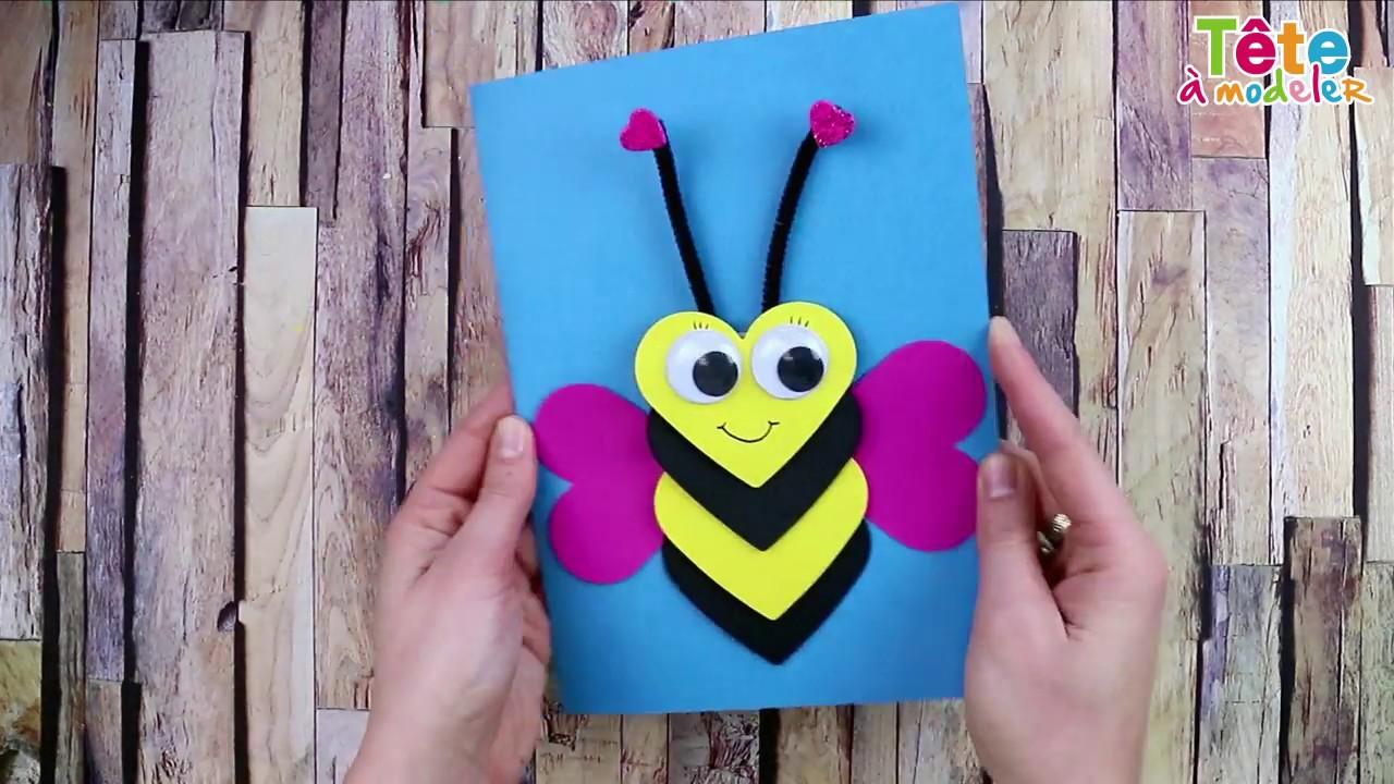 TUTO] La carte abeille coeur en relief - Une vidéo by Tête à modeler - YouTube