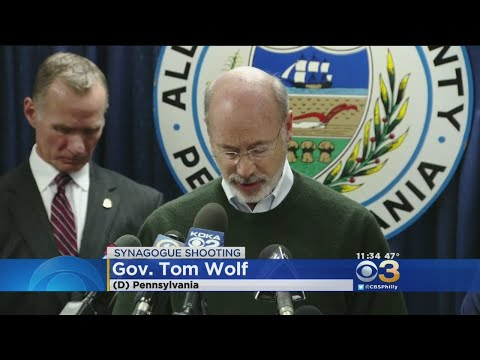 Robert Bowers Charged With 29 Federal Counts, Gov. Tom Wolf Attends Saturday Night's Vigil