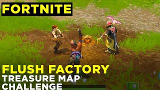 Follow the treasure map found in Flush Factory - Fortnite Week 3 Season 5 challenge location guide