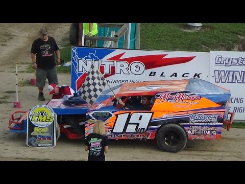 I.M.C.A. B Feature Race #1 at Great Lakes Nationals, Crystal Motor Speedway, 09-18-16