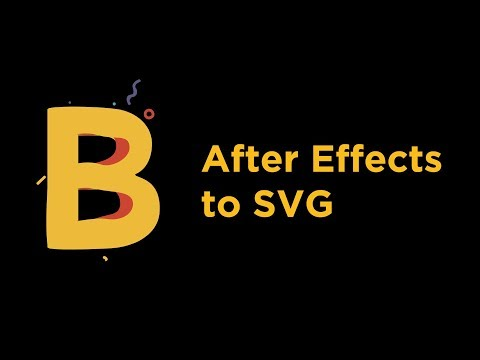 Bodymovin - After Effects To SVG