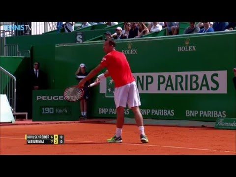 Wawrinka Fine Volley In Monte-Carlo 2016 Hot Shot