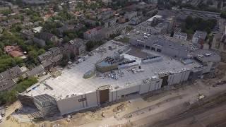 Budowa Centrum Handlowo-Rozrywkowego Nowa Stacja w Pruszkowie. Lipiec 2018