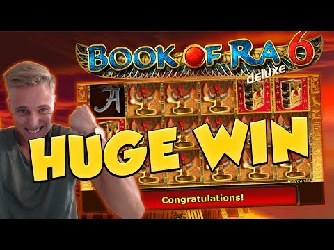 BIG WIN!!! Book of ra 6 Huge Win - Casino Games - Slots (free spins)