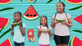 We Did A Water Melon Contest Who Won screenshot 2