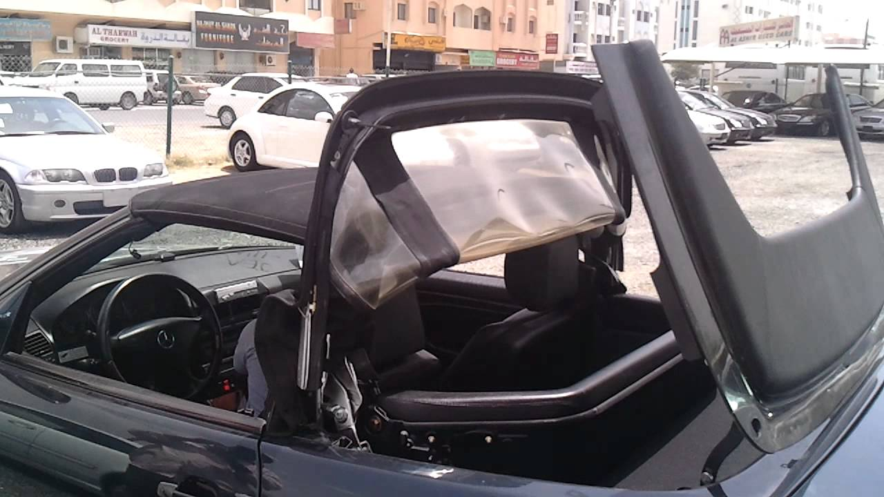 Mercedes Benz Sl500 Soft Top Operation Youtube