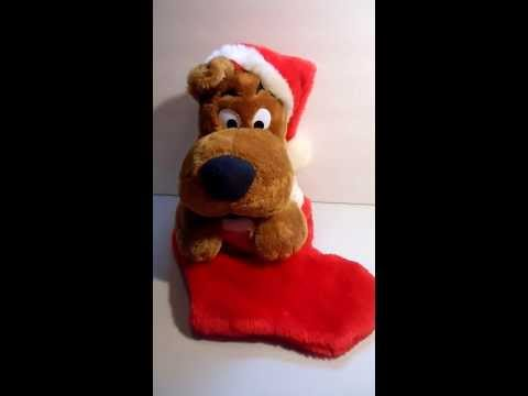 Animated Musical Plush Santa Scooby Doo Stocking Sings Christmas Songs 21