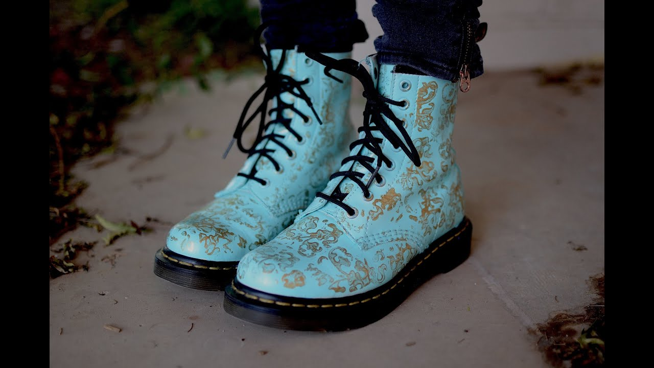 Diy custom doc martens youtube mightylinksfo Image collections