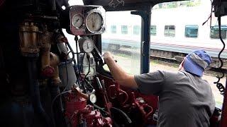 Поездка на паровозе П36-0218 вокруг Ростова-на-Дону
