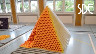 Worlds Largest 3D Domino Pyramid (29x29) | Egypt in 60