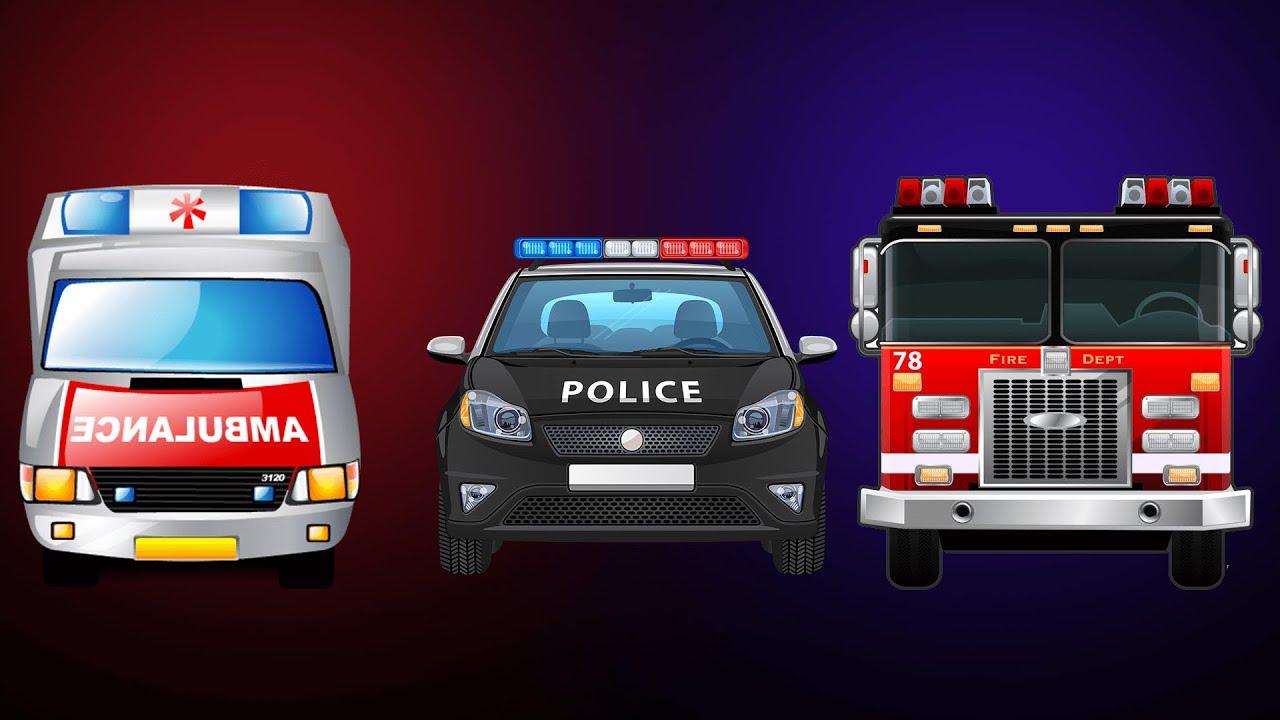 Emergency Vehicles - Kinder Surprise Toys - Kids Video