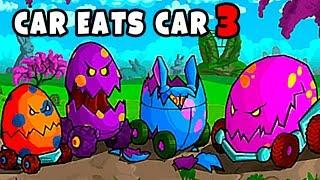 Машина Ест Машину 3 ПАСХАЛЬНАЯ ОХОТА в Хищных Тачках Car Eats Car обновление мульт игры для детей