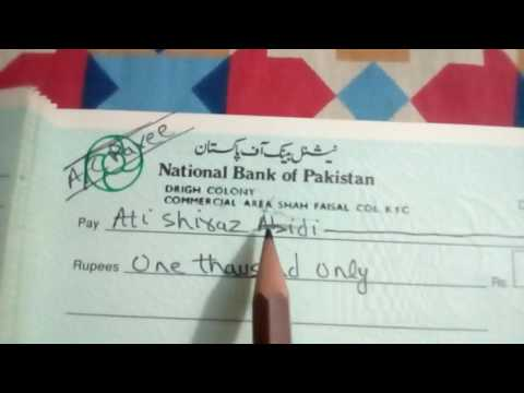 The proper way to fill up the cheque (Urdu / Hindi) - YouTube