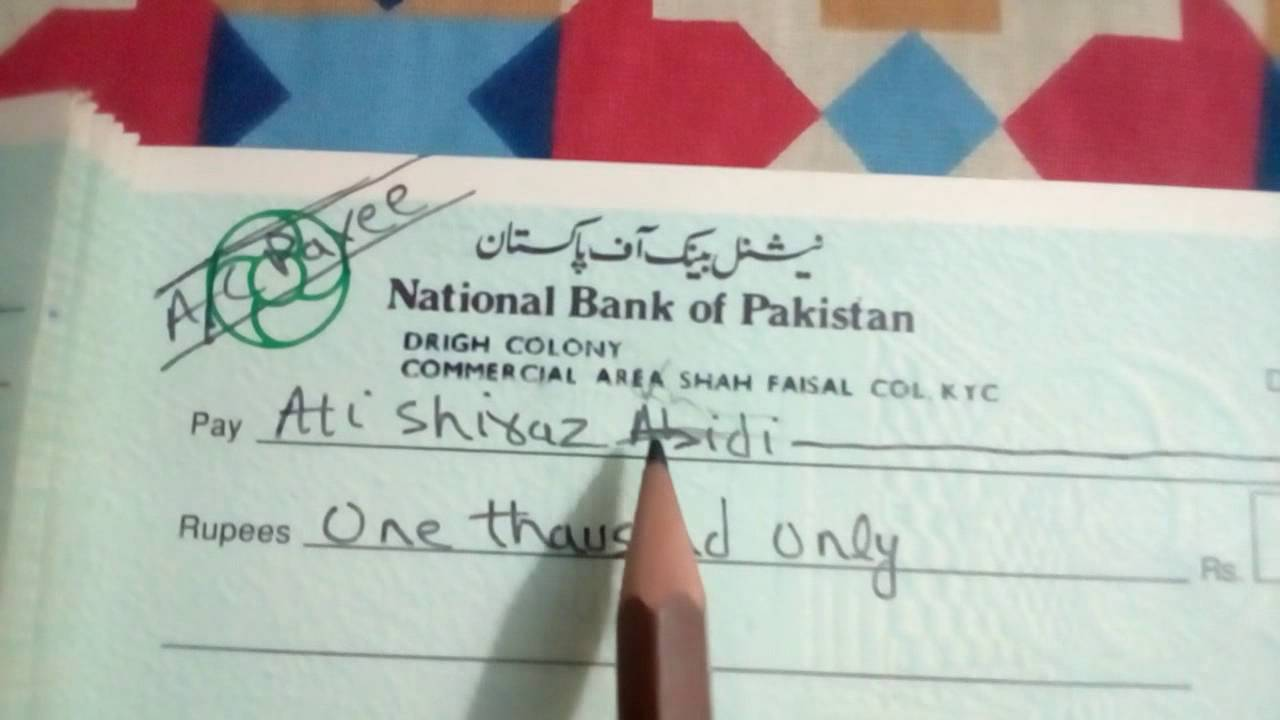 how to fill cheque in pakistan bank al habib