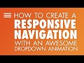 Responsive navigation with an fun animated dropdown using CSS clip-path