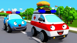 Ambulance, Police car, Tow Truck - Car for kids - Emergency Vehicles