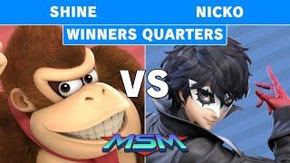 MSM 186 - ShiNe (Donkey Kong) vs Demise | Nicko (Joker) Winners Quarters - Smash Ultimate
