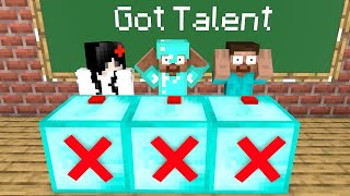 Monster School : Minecraft Got Talent - Funny Minecraft Animations
