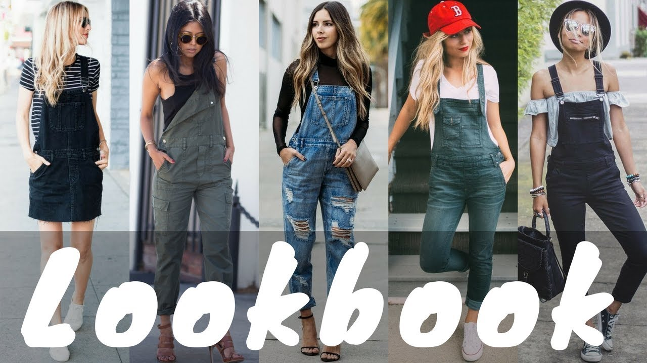 2018 DIY Overall Dress Jumper Outfits | Jumper Dress Outfit Ideas | Spring Lookbook - YouTube