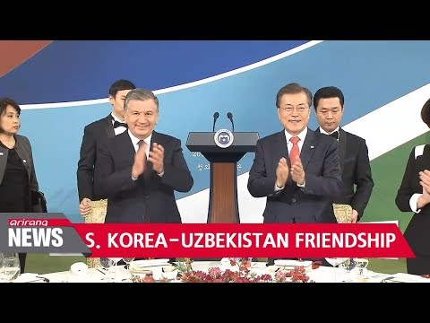 Leaders of S. Korea, Uzbekistan pledge to take bilateral ties to new level