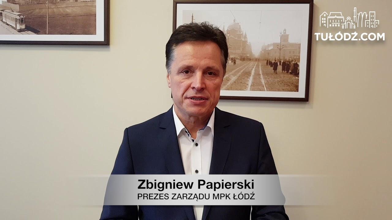Świąteczne życzenia od Zbigniewa Papierskiego, prezesa MPK Łódź