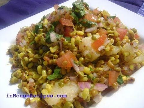 Dal Moth Sprouts Chaat - Hindi with English subtitles