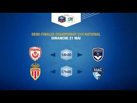 Dimanche 21 : demi-finales du championnat national U19 en live