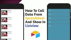 Call data form spreadsheet and show in listview in kodular.