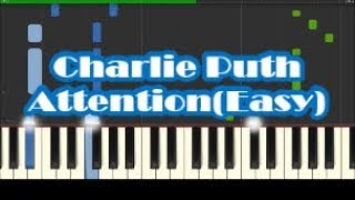 How To Play Attention by Charlie Puth - Easy Piano Tutorial