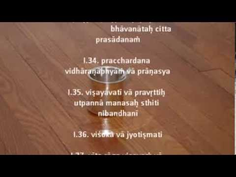 Yoga Sutra Chanting Tutorial Chapter I-Srivatsa Ramaswami
