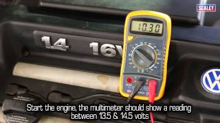 sealey how to diagnose battery alternator problems