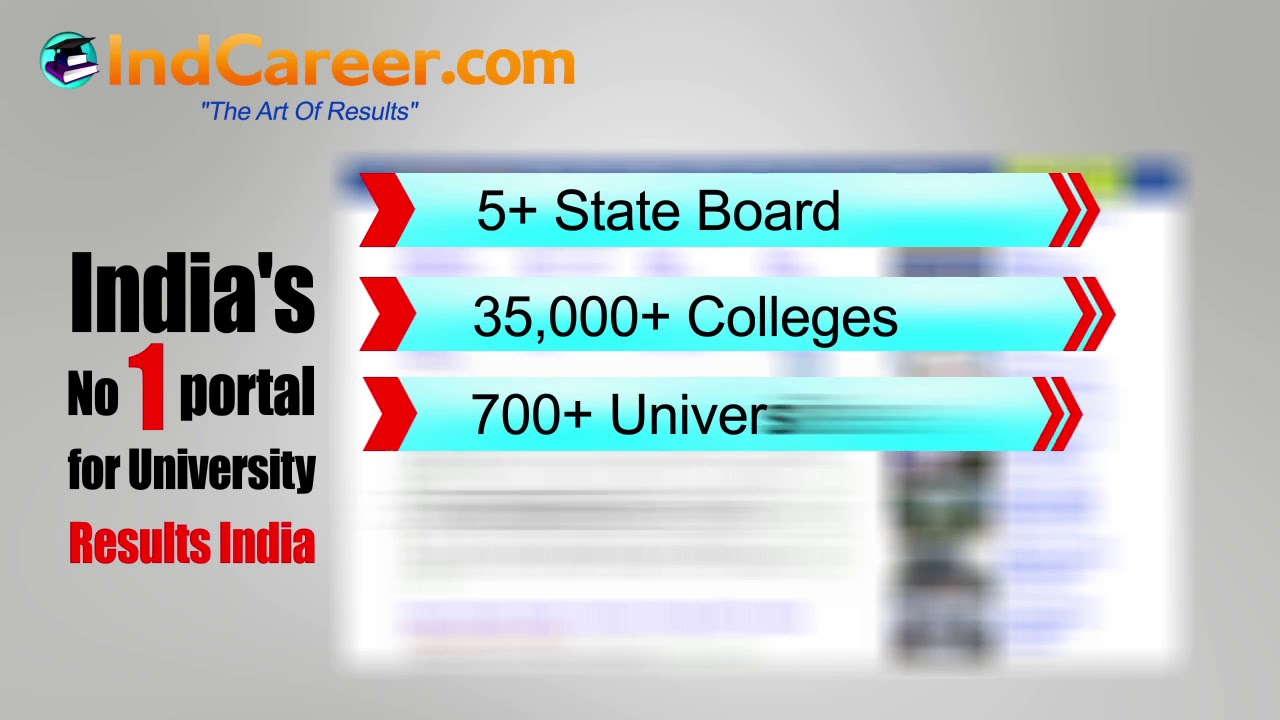 India's No 1 Potral for University Result