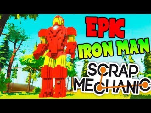 EPIC IRON MAN SCRAP MECHANIC !! LA MEJOR CONSTRUCCION DE SCRAP MECHANIC !! Makiman
