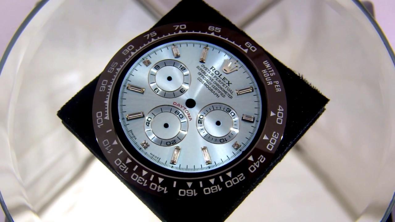 the best attitude dcf1a f3675 ROLEX 116506A   ロレックス デイトナ アイスブルー バゲットダイヤダイヤル&セラミックベゼル