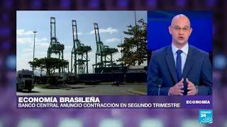 Economía de Brasil se contrae durante segundo trimestre de 2018