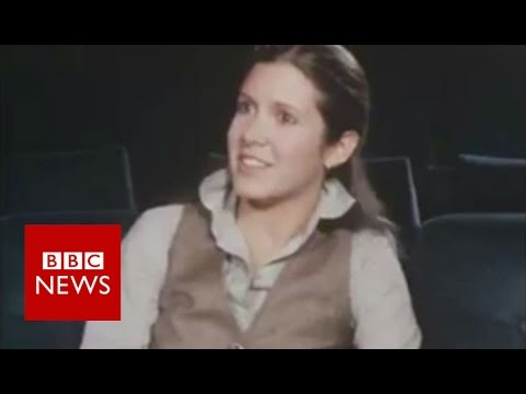 Carrie Fisher On Star Wars (1977) BBC News