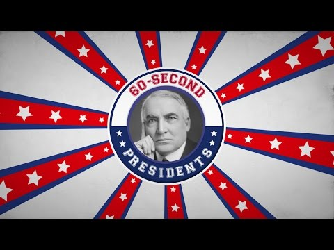 Warren G. Harding | 60-Second Presidents | PBS